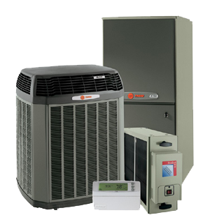 Furnace, Condenser, Air Cleaner, Thermostat